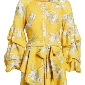 Lim Chriselle J.O.A. Woman's Dress Tiered Sleeve S